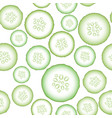 set of fresh green cucumbers vector image vector image