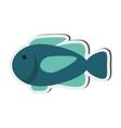 single fish icon vector image vector image
