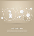 spray icon on a brown background with elegant vector image vector image