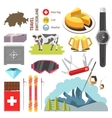 Switzerland travel collection vector image