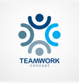 teamwork and friendship concept created with vector image vector image