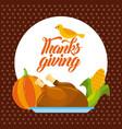 thanksgiving dinner menu food poster greeting