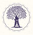 tree yoga om vector image vector image