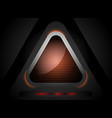 triangle shapes lighting scene vector image vector image