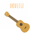 Ukulele hawaiian guitar Isolated on white vector image vector image