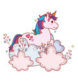 unicorn with shrubbery vector image
