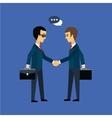 Deal two businessmen shaking hands vector image