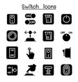 switch icon set vector image