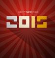 2015 Retro Happy New Year Card vector image vector image