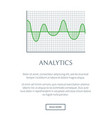 analytics digraph image color vector image vector image