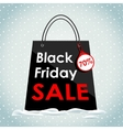 Black Friday sales Black bag in the snow vector image