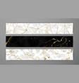 black white marble web banner gold luxury set vector image