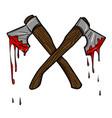 cartoon image of bloody axe vector image vector image