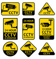 cctv video surveillance security camera sticker vector image