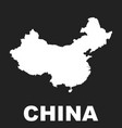china map flat on black background vector image vector image