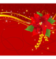 Christmas poinsettia background