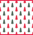 christmas seamless pattern with a christmas tree vector image vector image
