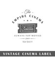 cinema label vector image vector image
