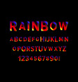 colorful font and alphabet vector image vector image