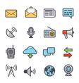 Communication Icon Bold Stroke with Color vector image vector image