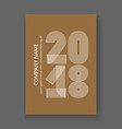 cover annual report numbers 2018 modern design vector image vector image