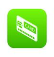 credit card icon green vector image vector image