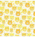 cute bear seamless pattern background vector image vector image