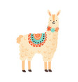 cute childish lama character adorable funny vector image vector image