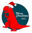 Cute Tyrannosaurus Rex Santa vector image vector image