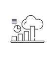 data management line icon concept data management vector image vector image