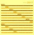 Design 12 months of 2017 calendar template vector image vector image