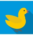Duck icon flat style vector image vector image