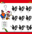 educational shadow game activity with pirates vector image vector image