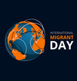global migrant day concept banner cartoon style vector image