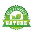 Go green ecology design vector image