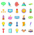 group icons set cartoon style vector image vector image
