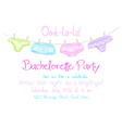 hand drawn bachelorette party invitation card with vector image vector image