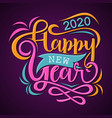 happy new year 2020 greeting card or background vector image vector image