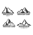 Hill landscape or mountain pick set of icons vector image