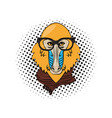 hipster mandrill cool sketch vector image