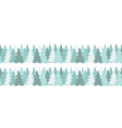 horizontal seamless border with christmas green vector image