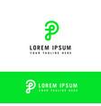 initial letter logo p monogram concept template p vector image vector image