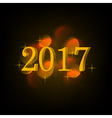 inscription 2017 with lights ball vector image vector image
