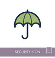 insurance icon umbrella sign vector image vector image
