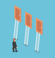 isometric businessman standing in front three vector image