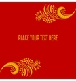 Khokhloma decorated card template vector image vector image