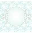 Lace with pearl frame vector image vector image