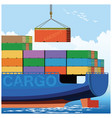loading on a container carrier vector image vector image