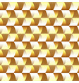 mosaic golden geometric seamless pattern vector image