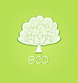 Ornamental tree eco-label vector | Price: 1 Credit (USD $1)